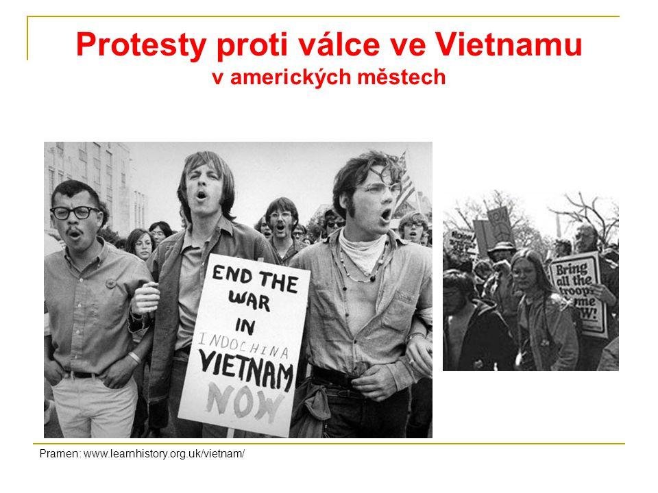 Protesty proti válce ve Vietnamu v amerických městech
