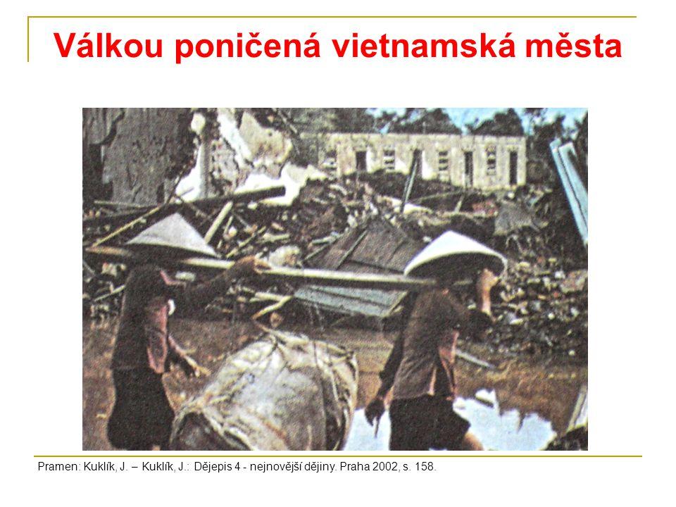 Válkou poničená vietnamská města