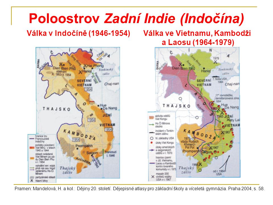 Poloostrov Zadní Indie (Indočína)