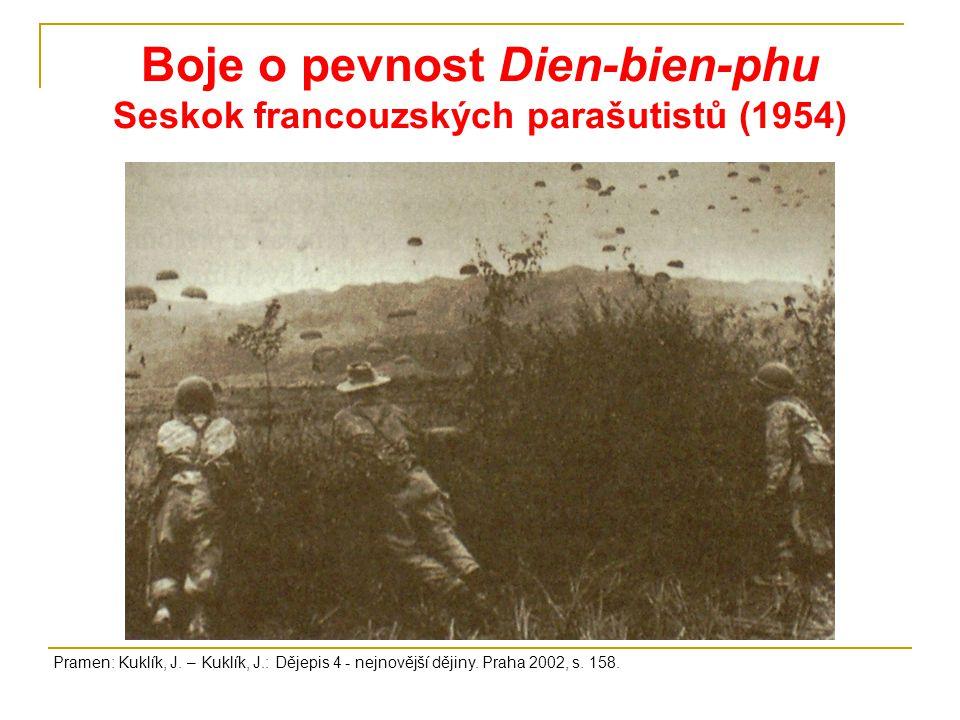 Boje o pevnost Dien-bien-phu Seskok francouzských parašutistů (1954)