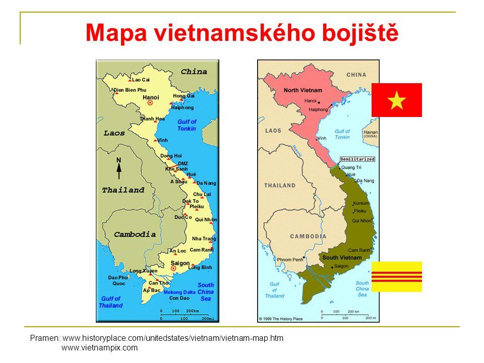 Mapa vietnamského bojiště