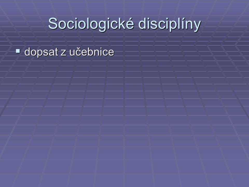 Sociologické disciplíny