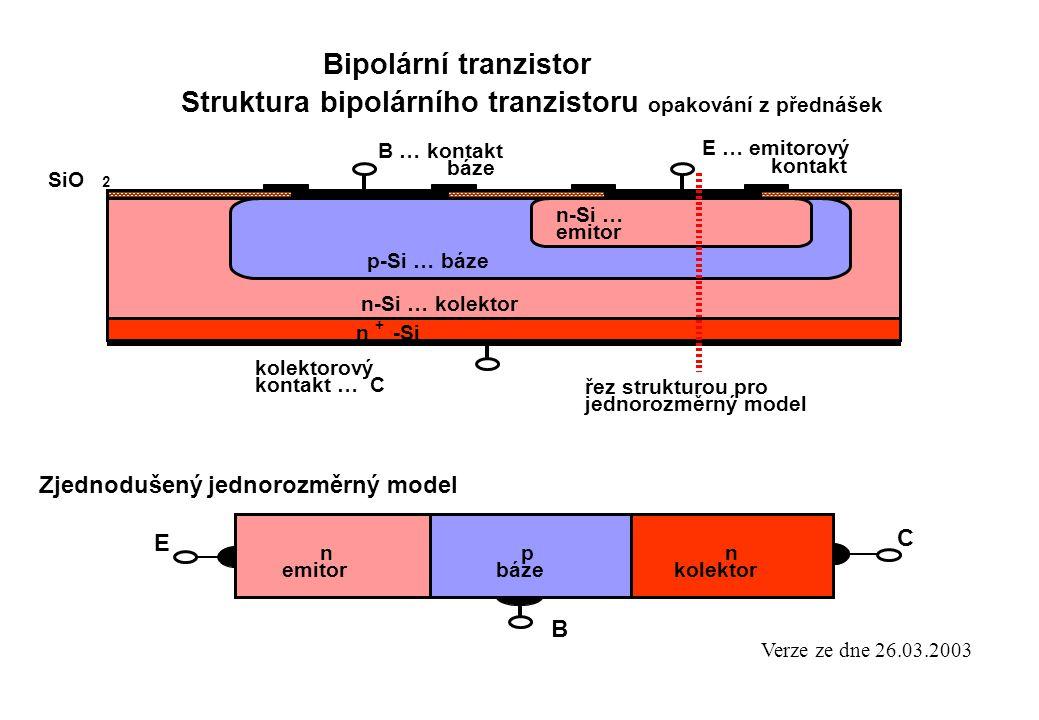 Struktura bipolárního tranzistoru opakování z přednášek