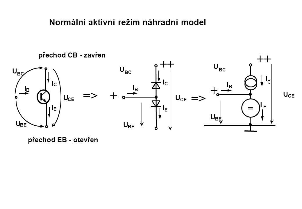 ++ ++ + => + => = Normální aktivní režim náhradní model