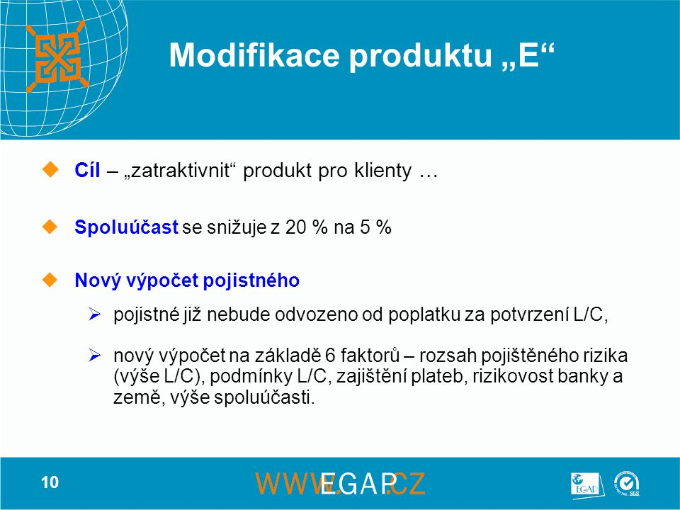 "Modifikace produktu ""E"