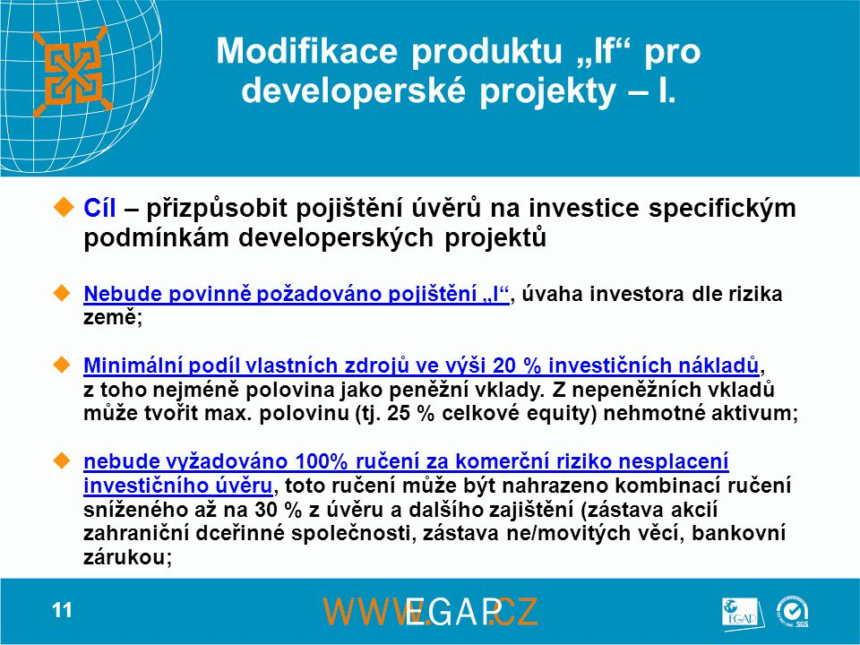 """Modifikace produktu """"If pro developerské projekty – I."""