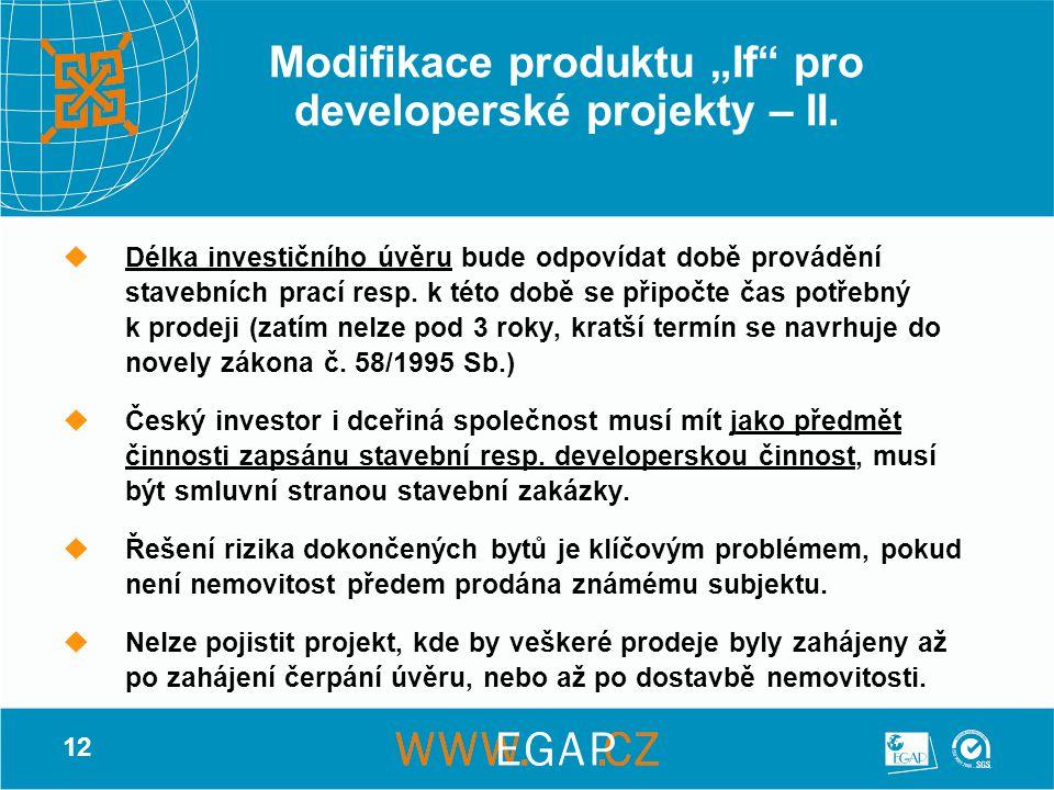 """Modifikace produktu """"If pro developerské projekty – II."""