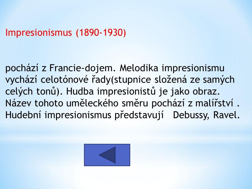 Impresionismus (1890-1930)