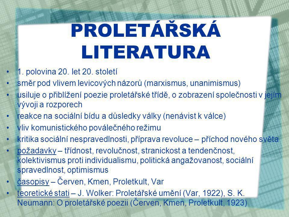 PROLETÁŘSKÁ LITERATURA