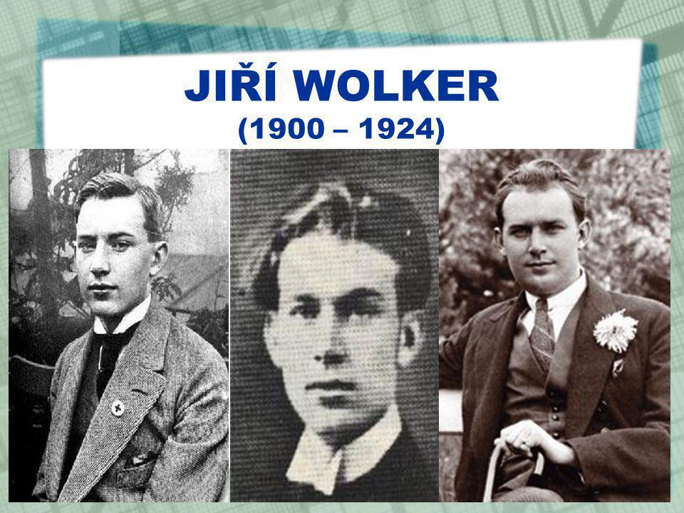 JIŘÍ WOLKER (1900 – 1924)