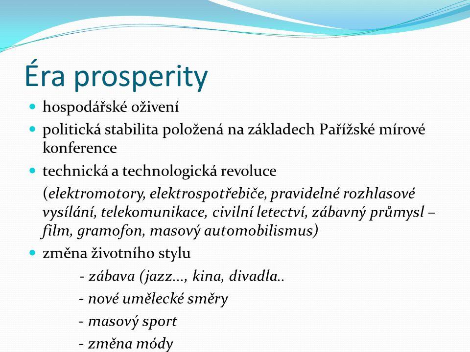 Éra prosperity hospodářské oživení