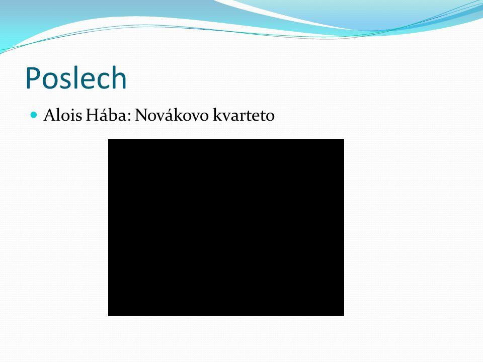 Poslech Alois Hába: Novákovo kvarteto