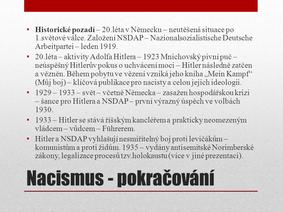 Nacismus - pokračování