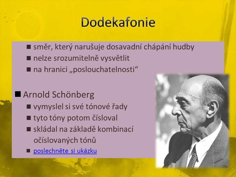 Dodekafonie Arnold Schönberg