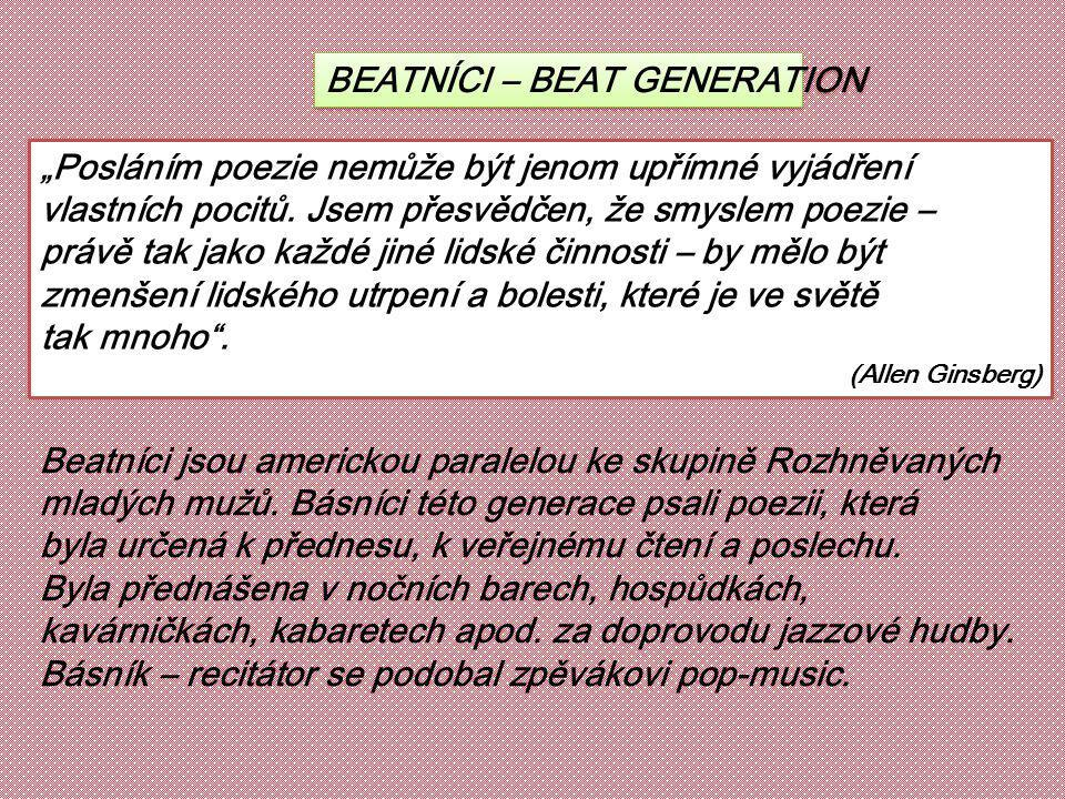 BEATNÍCI – BEAT GENERATION