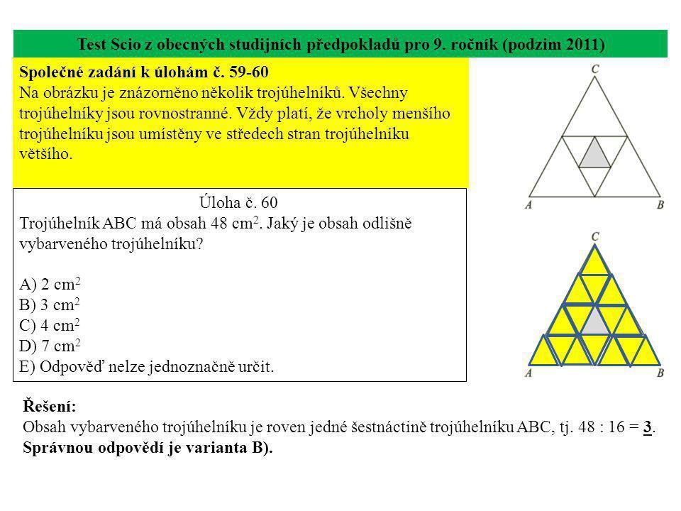 Test Scio z obecných studijních předpokladů pro 9. ročník (podzim 2011)