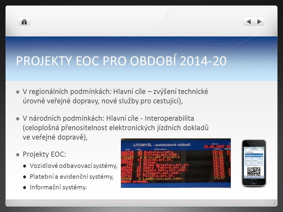 PROJEKTY EOC PRO OBDOBÍ 2014-20