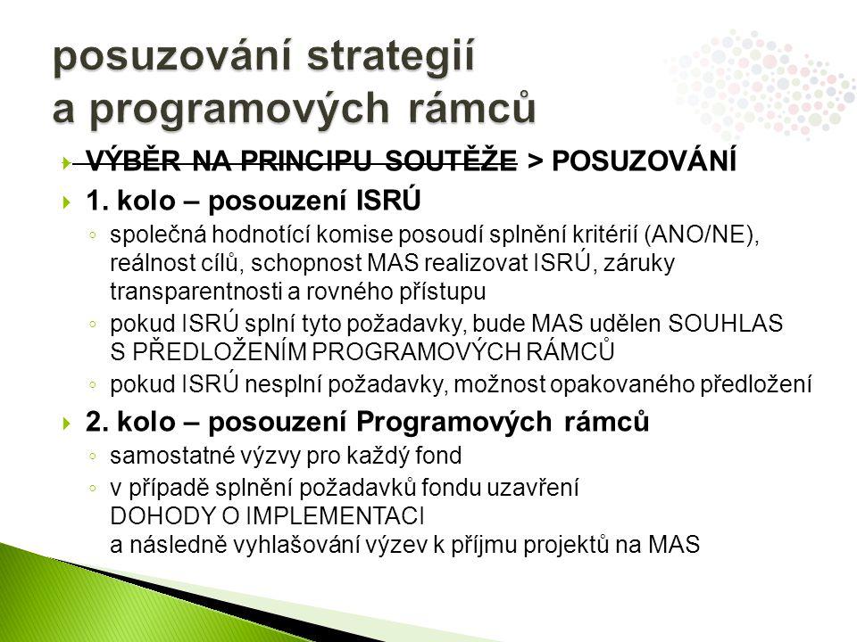 posuzování strategií a programových rámců