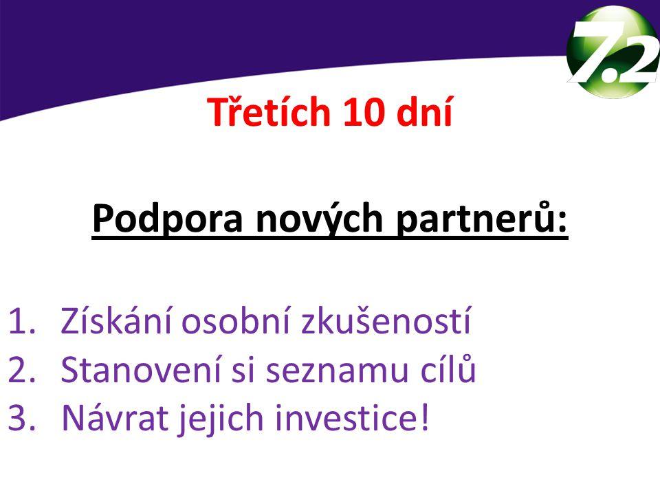 Podpora nových partnerů: