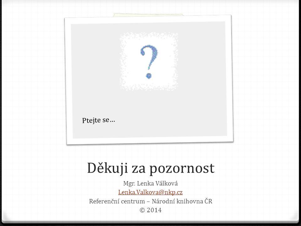 Referenční centrum – Národní knihovna ČR
