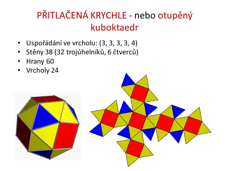 PŘITLAČENÁ KRYCHLE - nebo otupěný kuboktaedr