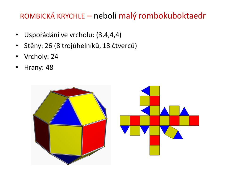ROMBICKÁ KRYCHLE – neboli malý rombokuboktaedr