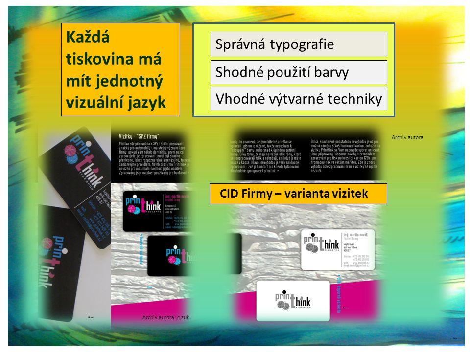 Každá tiskovina má mít jednotný vizuální jazyk