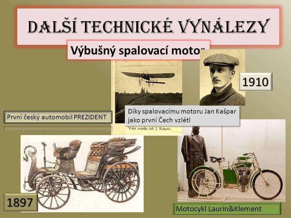 Další technické vynálezy