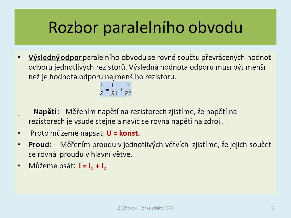 Rozbor paralelního obvodu