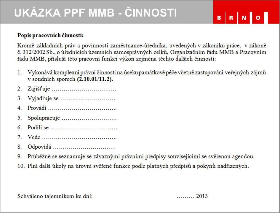 UKÁZKA PPF MMB - ČINNOSTI