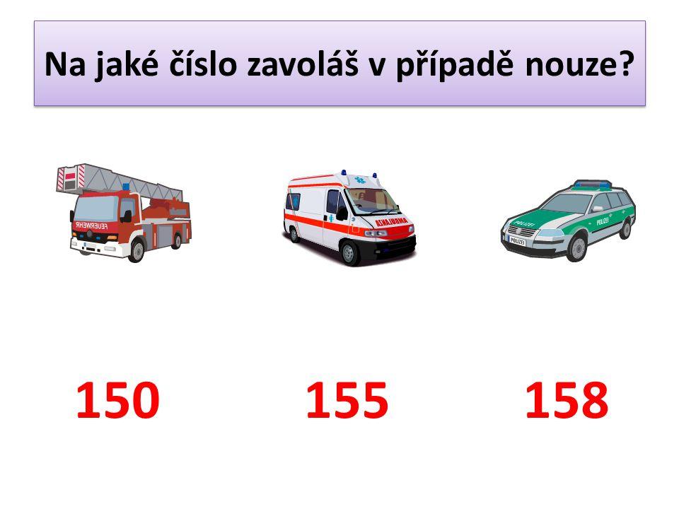 Na jaké číslo zavoláš v případě nouze