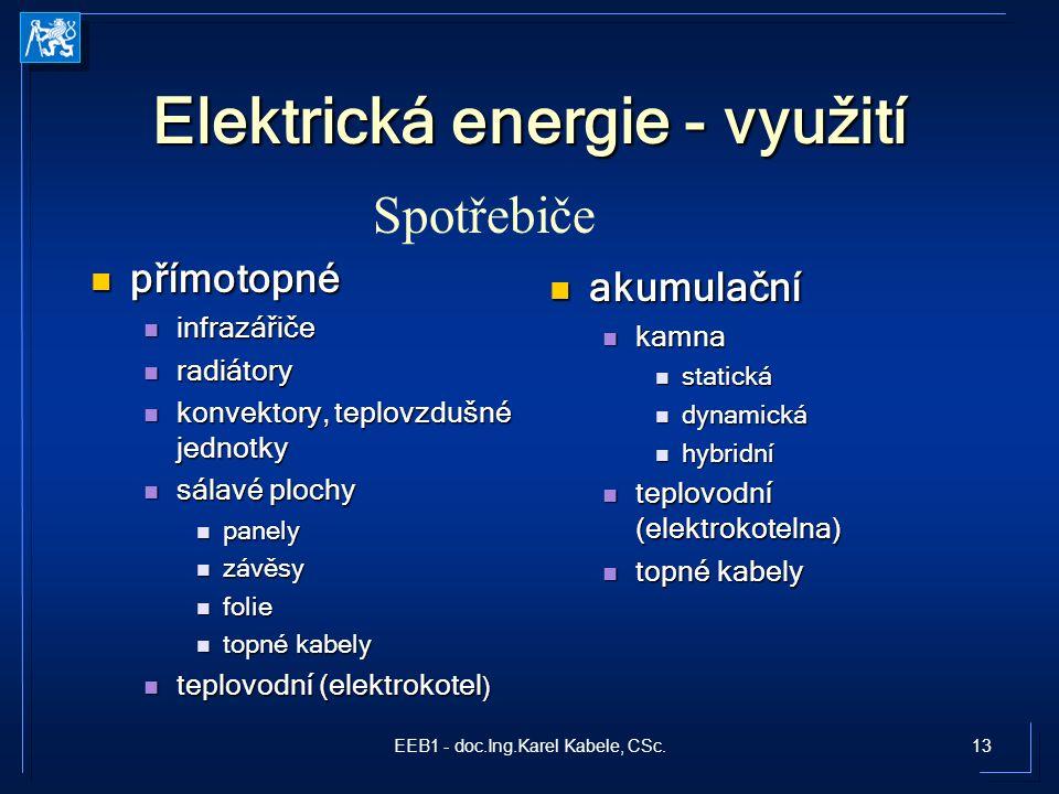 Elektrická energie - využití