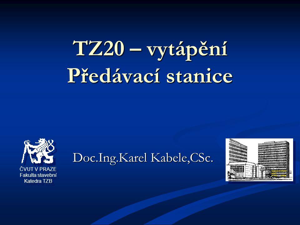 TZ20 – vytápění Předávací stanice