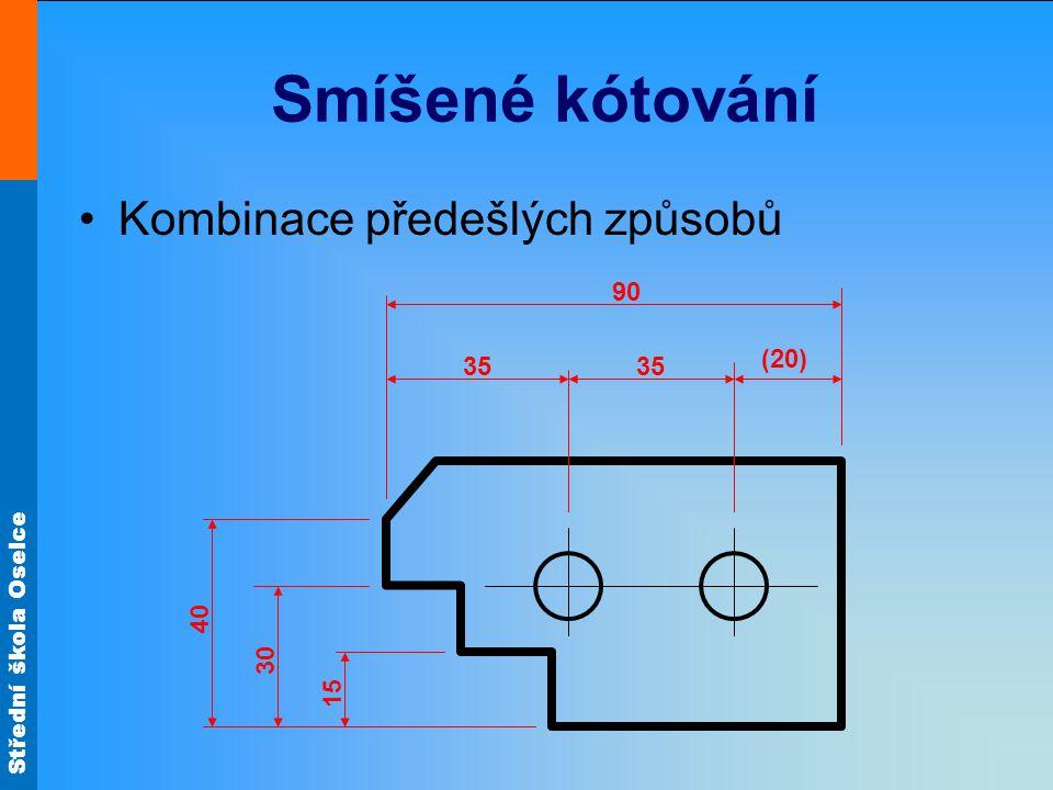 Smíšené kótování Kombinace předešlých způsobů (20) 35 90 15 30 40