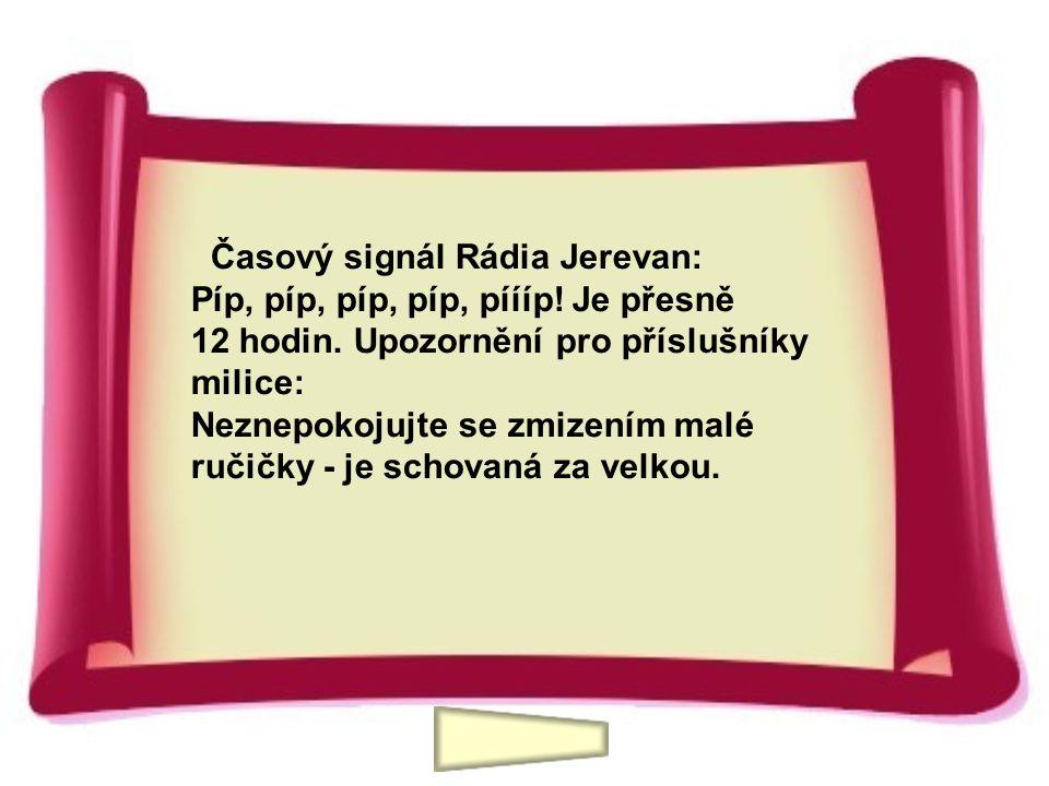 Časový signál Rádia Jerevan: