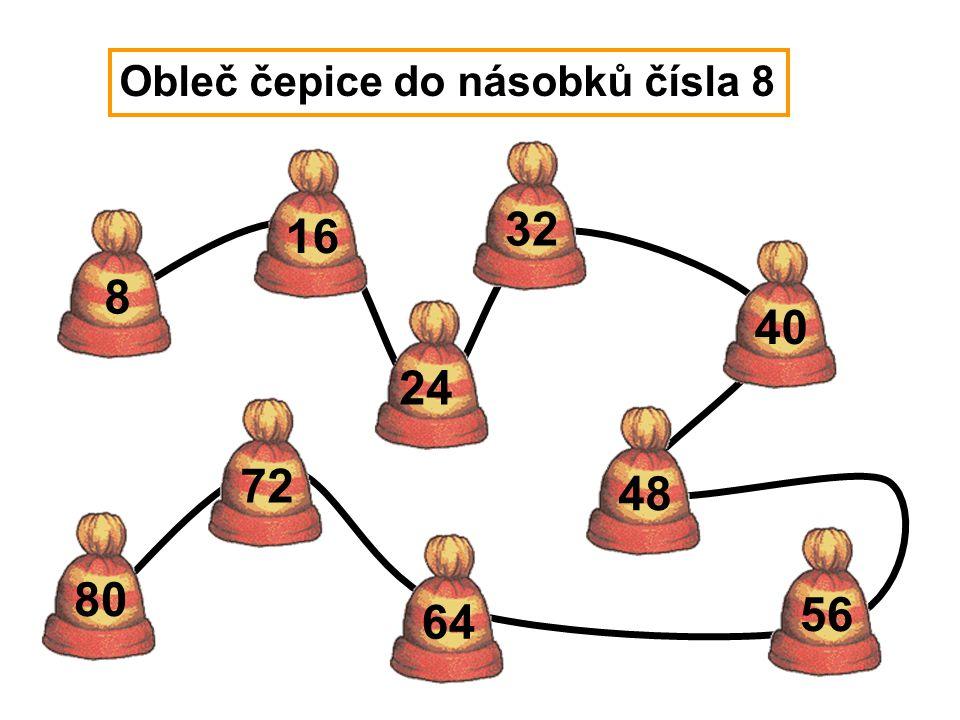 Obleč čepice do násobků čísla 8