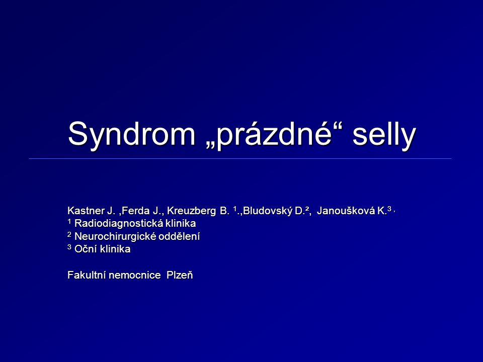 """Syndrom """"prázdné selly"""
