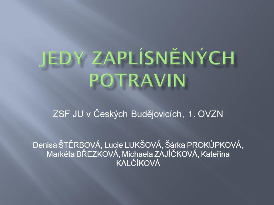 JEDY ZAPLÍSNĚNÝCH POTRAVIN