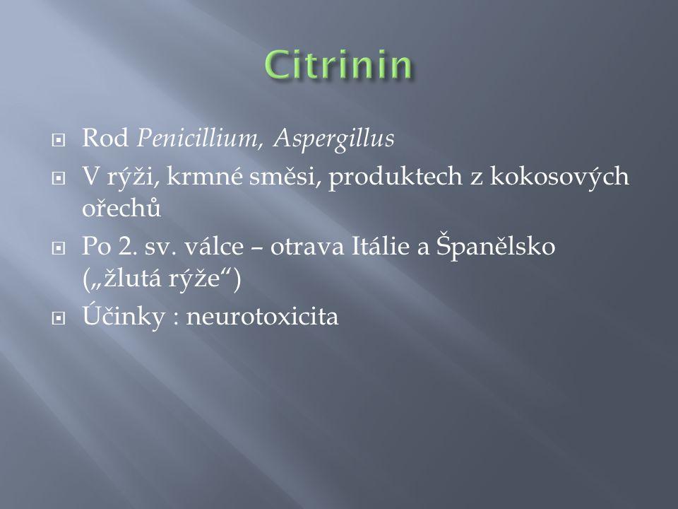 Citrinin Rod Penicillium, Aspergillus