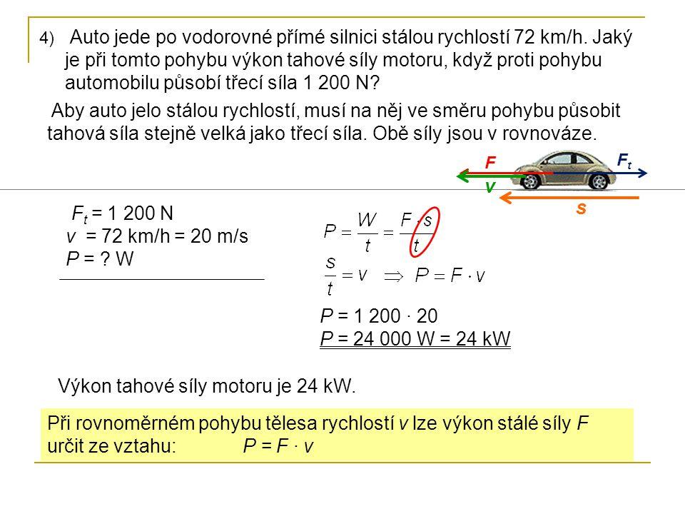 Výkon tahové síly motoru je 24 kW.
