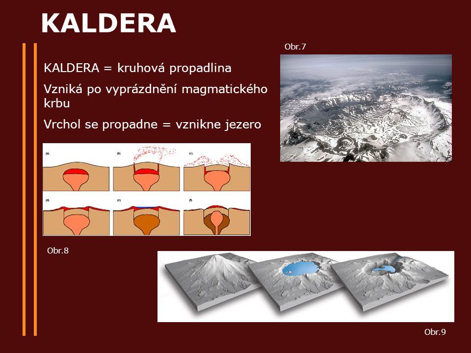 KALDERA KALDERA = kruhová propadlina