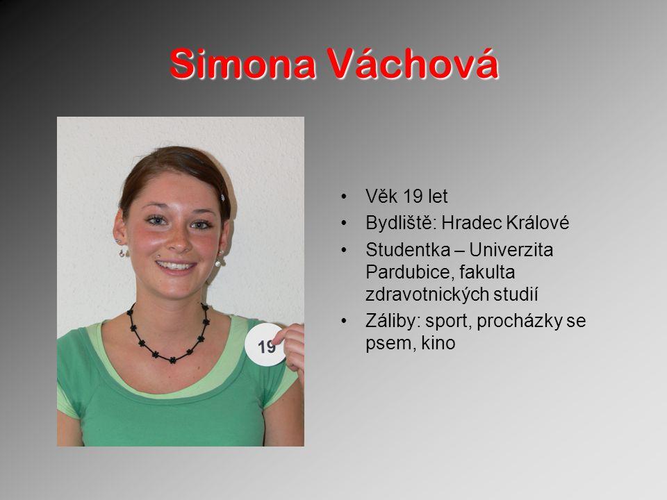 Simona Váchová Věk 19 let Bydliště: Hradec Králové