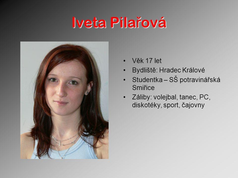Iveta Pilařová Věk 17 let Bydliště: Hradec Králové