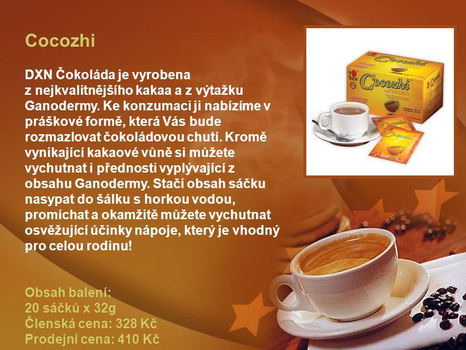 Cocozhi DXN Čokoláda je vyrobena z nejkvalitnějšího kakaa a z výtažku Ganodermy.