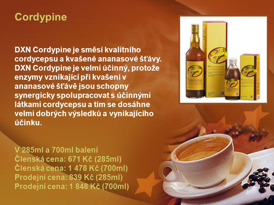 Cordypine DXN Cordypine je směsí kvalitního cordycepsu a kvašené ananasové šťávy.