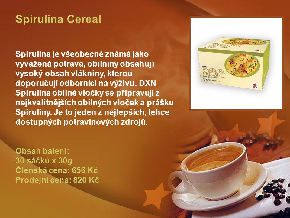 Spirulina Cereal Spirulina je všeobecně známá jako vyvážená potrava, obilniny obsahují vysoký obsah vlákniny, kterou doporučují odborníci na výživu.