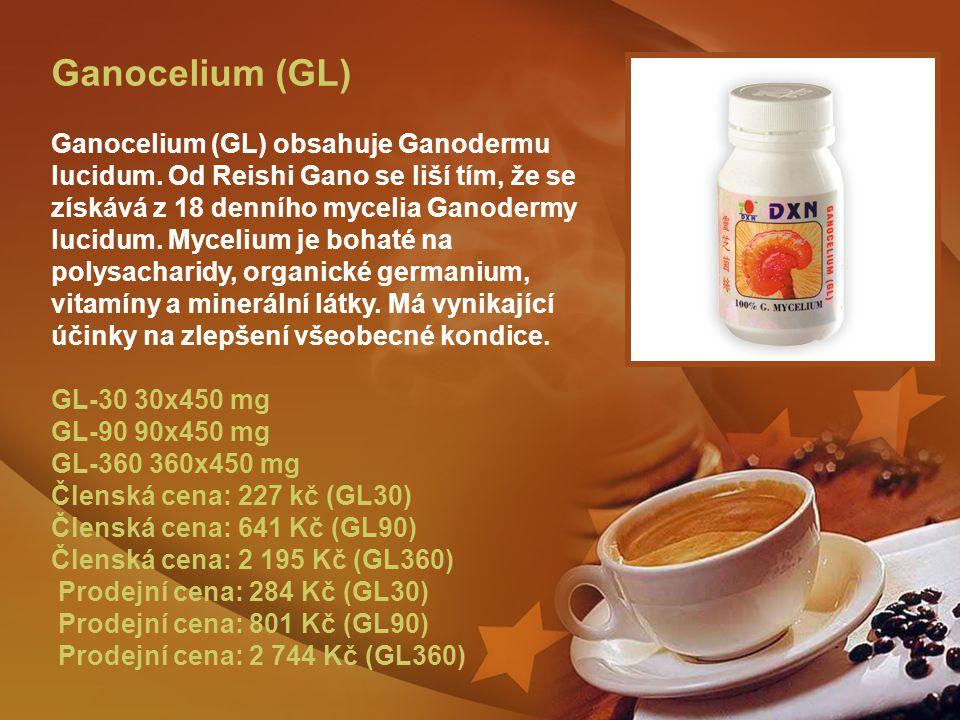 Ganocelium (GL) Ganocelium (GL) obsahuje Ganodermu lucidum