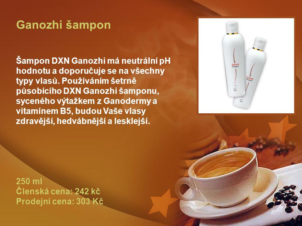Ganozhi šampon Šampon DXN Ganozhi má neutrální pH hodnotu a doporučuje se na všechny typy vlasů.