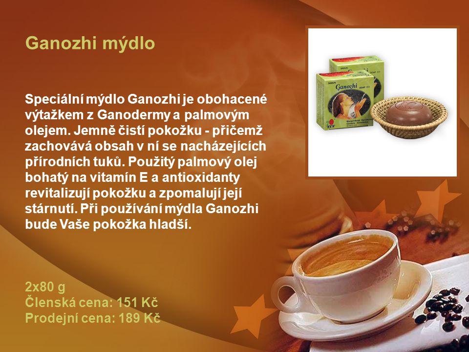 Ganozhi mýdlo Speciální mýdlo Ganozhi je obohacené výtažkem z Ganodermy a palmovým olejem.