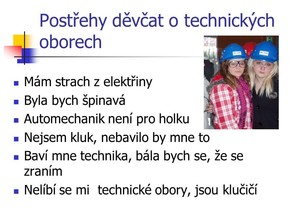 Postřehy děvčat o technických oborech